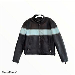 Hot Leathers 100% Leather Motorcycle Biker Jacket